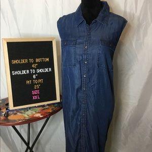 💟Preowned • Size XXX • maternity jeans dress